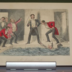 John Leech 1854 Colored Engraving, signed in plate