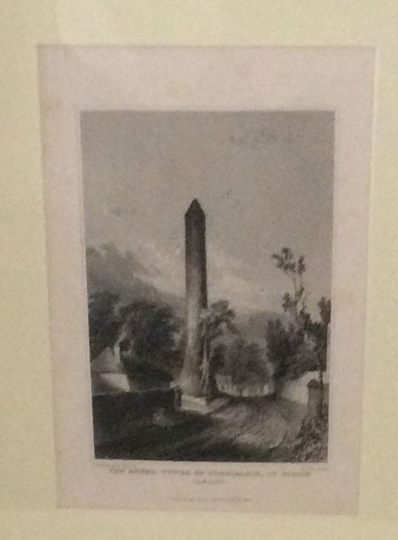 1844 Engraving Round Tower Clondalkin