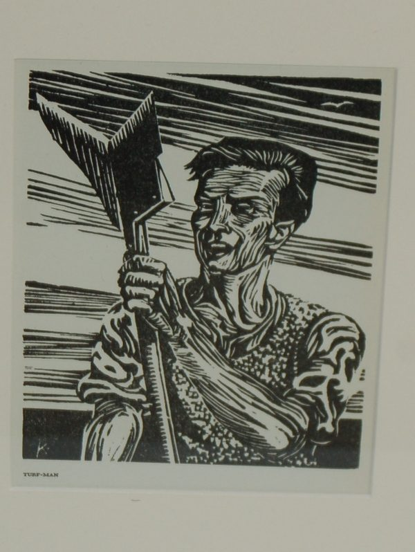 Harry Kernoff Woodcut 1948 for sale The Turf Man