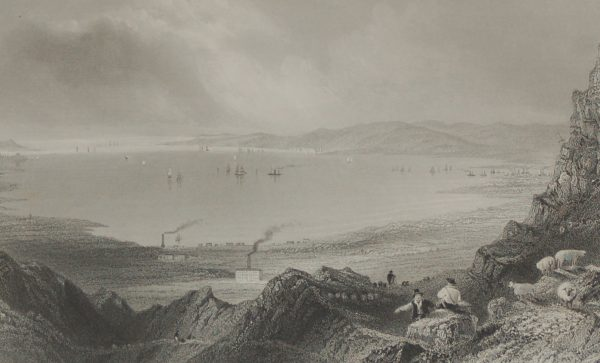 1860 Engraving Belfast Lough by Robert Wallis after William Bartlett.