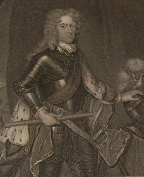 1854 steel engraving John Churchill, Duke of Marlborough