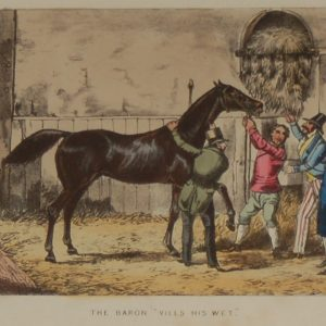 1874 Henry Alken Print Mr Baron Vills His Wet,