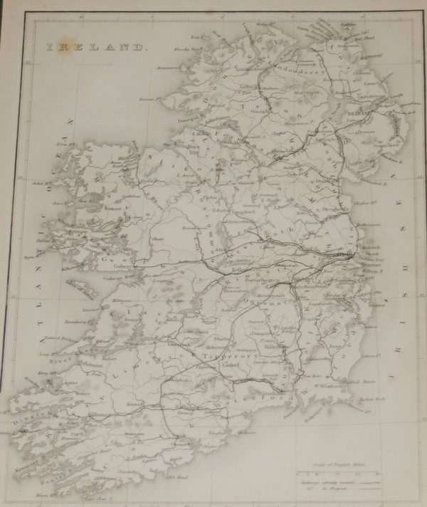 1860 Antique Map Ireland