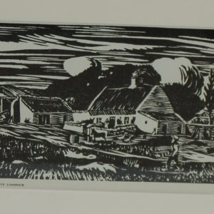 Harry Kernoff Woodcut Farm County Limerick