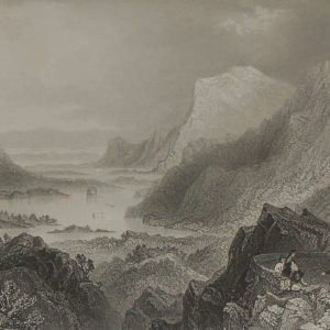 Approach to Killarney from the Kenmare Road antique William Bartlett print