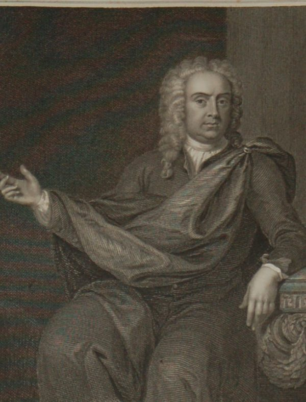 1854 steel engraving William Pulteney 1684 to 1674, Earl of Bath.