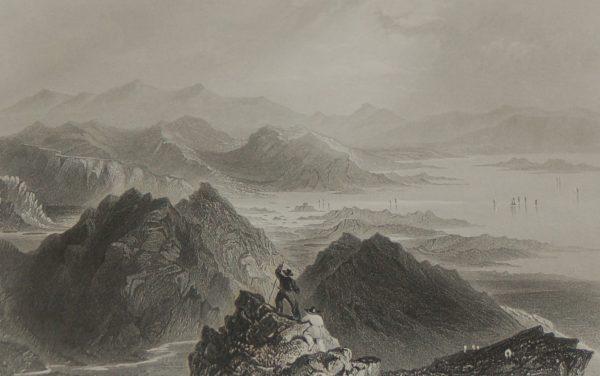 """ Scene from Sugar Loaf Mountain "" in Bantry Bay, Cork."