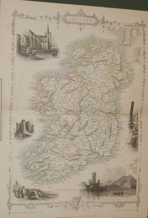 Antique Map Ireland 1854
