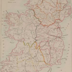 Antique map Ireland 1841 for sale at Antico.gallery