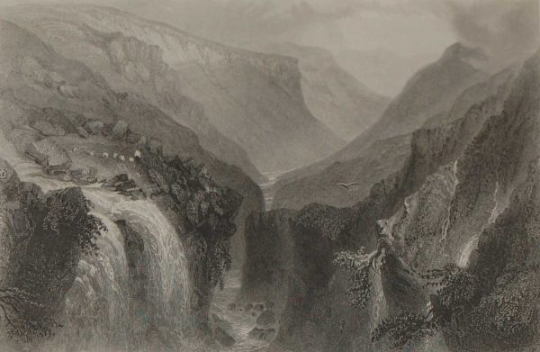 1871 antique print, head of glenmalure