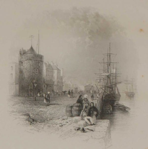 The Quay Waterford 1837 Antique Print