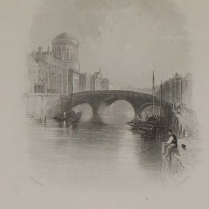 Antique print 1871 Four Courts Dublin
