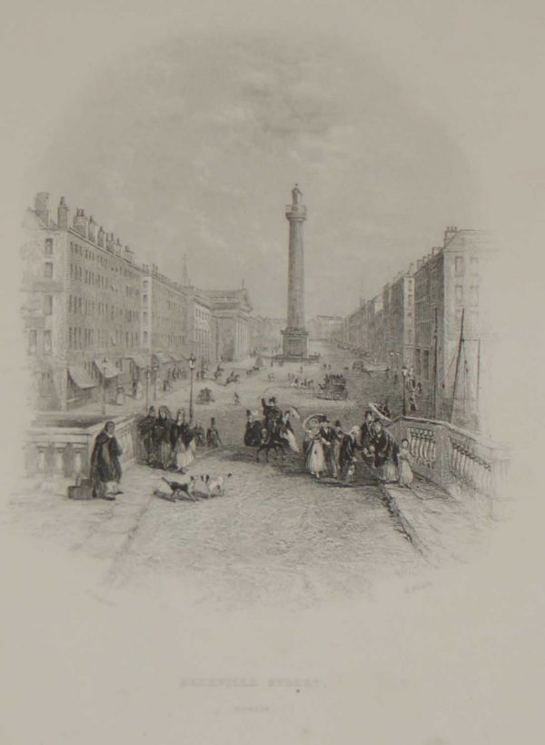 antique print sackville street dublin