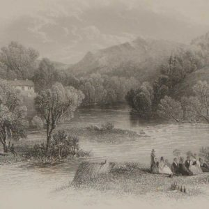 1837 antique print meeting of the waters avoca wicklow