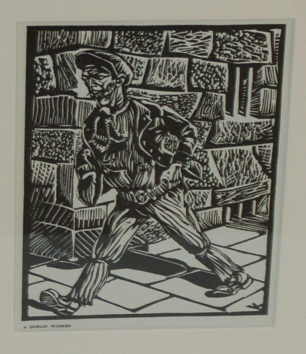 Dublin Worker Harry Kernoff 1948 Woodcut