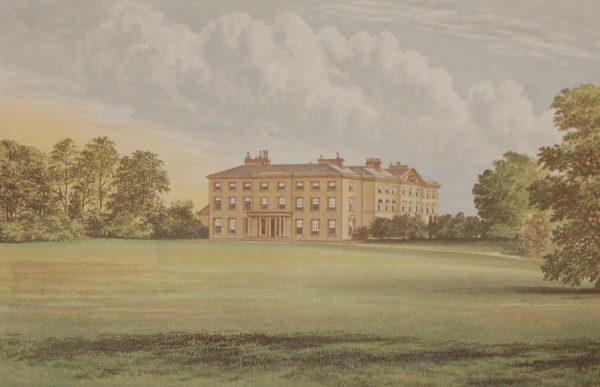 Farnham House Cavan 1880 Antique Print