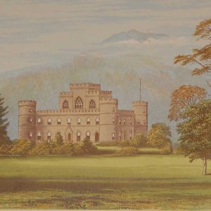 Inverary Castle Antique Print 1880