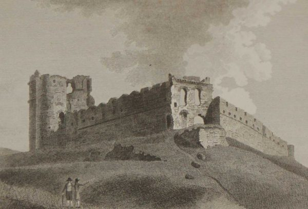 1797 antique print Roche Castle County Louth Ireland