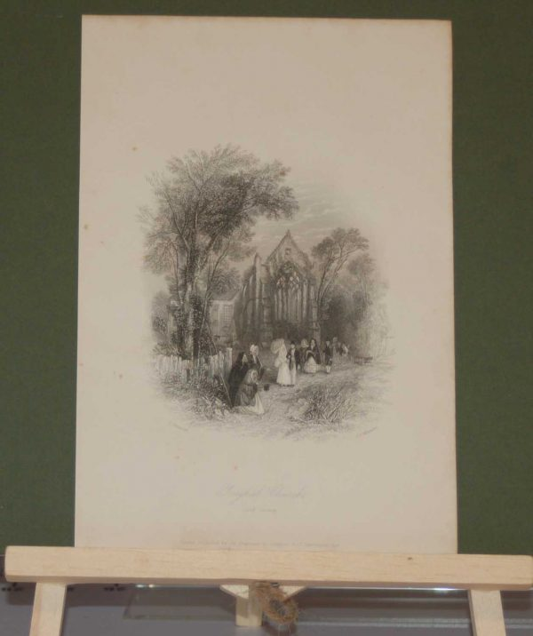 1837 Youghal Church, County Cork, Ireland, antique print