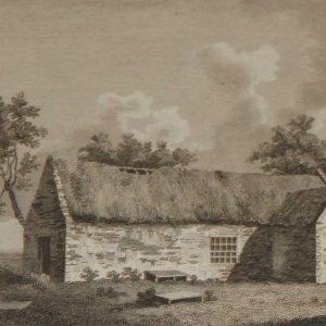 Antique print from Ireland 1797 Ardglass Church Carlow