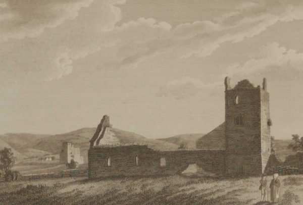 1797 Antique Print Abbey of Aghamatart Laois Ireland