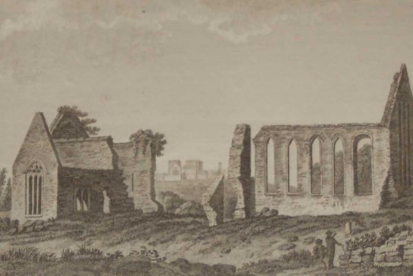 1797 Antique Print, a copper plate engraving of the Franciscan Abbey in County Tipperary, Ireland