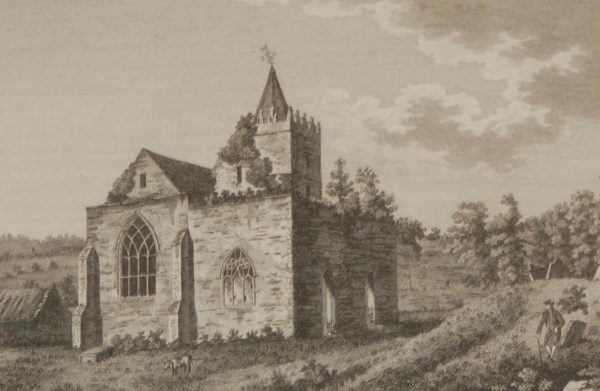 1797 Antique Print a copper plate engraving of Old Leighlin Church, County Carlow ,Ireland. The Church is said to have been founded in the 12th century.