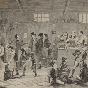 1864 antique print emmet preparing for the insurection