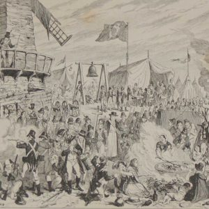 George Cruikshank the camp on vinegar hill 1864 antique engraving