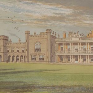 Knowsley Hall Antique Print 1880