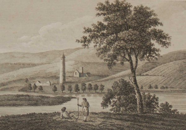 1797 Antique Print a copper plate engraving of Devinish Isle in County Fermanagh, Ireland, it has a monastic site and was raided by Vikings in 837.