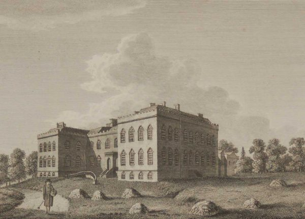 1797 Antique Print a copper plate engraving of Monasterevin Abbey in County Kildare, Ireland
