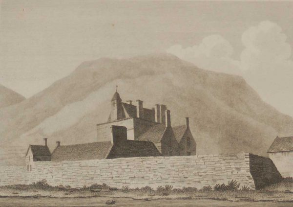 New Castle Near Tullmore, Down antique print Ireland 1797
