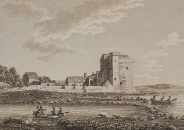 Oranmore Castle County Galway Antique Print from 1797