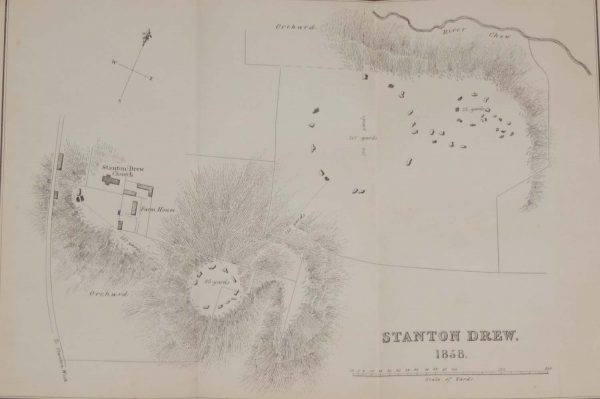 Stanton Drew Stone Circles Antique Map 1858