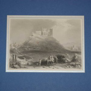 An antique steel engraving  approach to Cashel in Tipperary. The print dates from 1871 and was published by Virtue and Co in London.