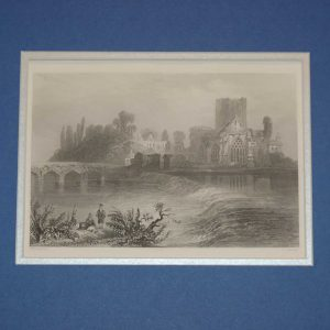 An antique steel engraving of Holy Cross Abbey in Tipperary. The print dates from 1871 and was published by Virtue and Co in London.