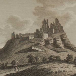 1797 antique print a copper plate engraving of Carrigogunnel Castle in County Limerick,