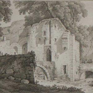1817 Aquatint Engraving Benedict Piringer