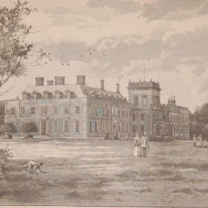 antique engraving, St Giles House, Dorset, this antique print was published in 1892 by Cassell and Company as part of a larger work on historic houses in the UK.