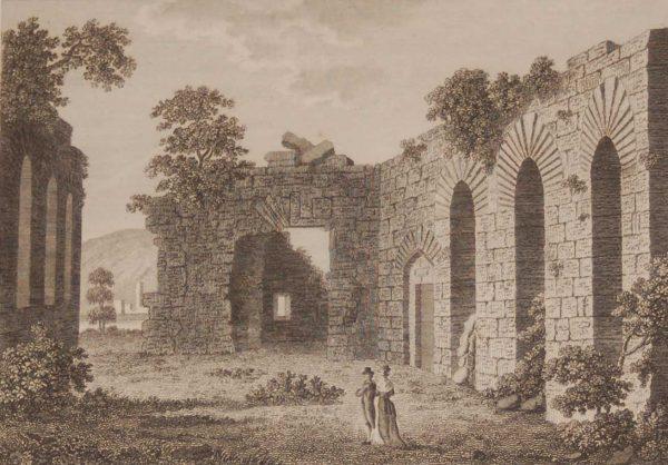 1797 Antique Print a copper plate engraving of O'Rourks Hall, County Leitrim, Ireland.
