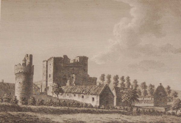 1797 Antique Print a copper plate engraving of Torfeekan Castle, County Louth, Ireland.