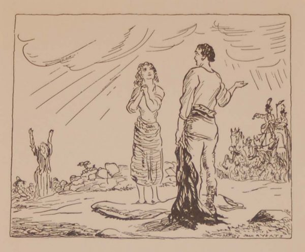 Jack B Yeats Here's A Coach and we'll get into it 1933 published by The Macmillan Company in New York.