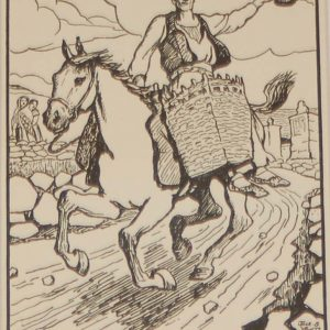 Jack B Yeats An Island Horseman a print after Jack B Yeats from 1907 published by Maunsel and Company in Dublin.