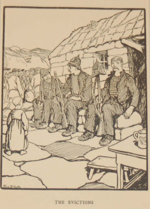 Jack B Yeats The Evictions a print after Jack B Yeats from 1907 published by Maunsel and Company in Dublin.