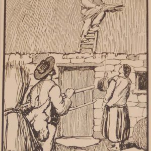 Jack B Yeats Thatching a print after Jack B Yeats from 1907 published by Maunsel and Company in Dublin.