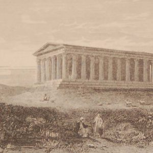 Temple of Theseus Athens Engraving by J Stewart 1892 Antique Print