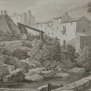 Aquatint from 1817 by the famous Austrian engraver Benedict Piringer, titled, Vue de l'Auberge du Cheval blanc, sur les lords de la Moine á Clisson