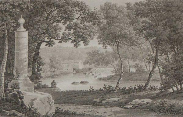 aquatint from 1817 by the famous Austrian engraver Benedict Piringer, titled, Vue de la Colonne Milliaire dans le Bois de la Garenne a Chateau