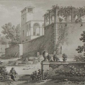 aquatint from 1817 by the famous Austrian engraver Benedict Piringer, titled, Vue d'une Terrasses et du Belvedére de la maison Valentin á Clisson.